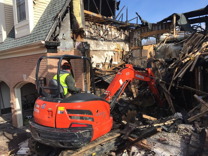home demolition in maryland from fire